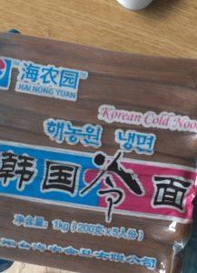 中国販売韓国冷麺