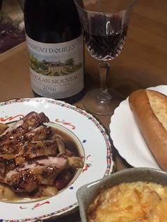 ワインと料理画像