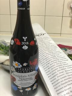 2018年ボジョレー・ヌーボーと料理を楽しんでみた!ワインの評価と実際は?