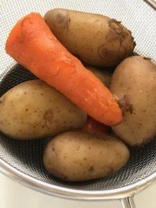 茹で上がった野菜
